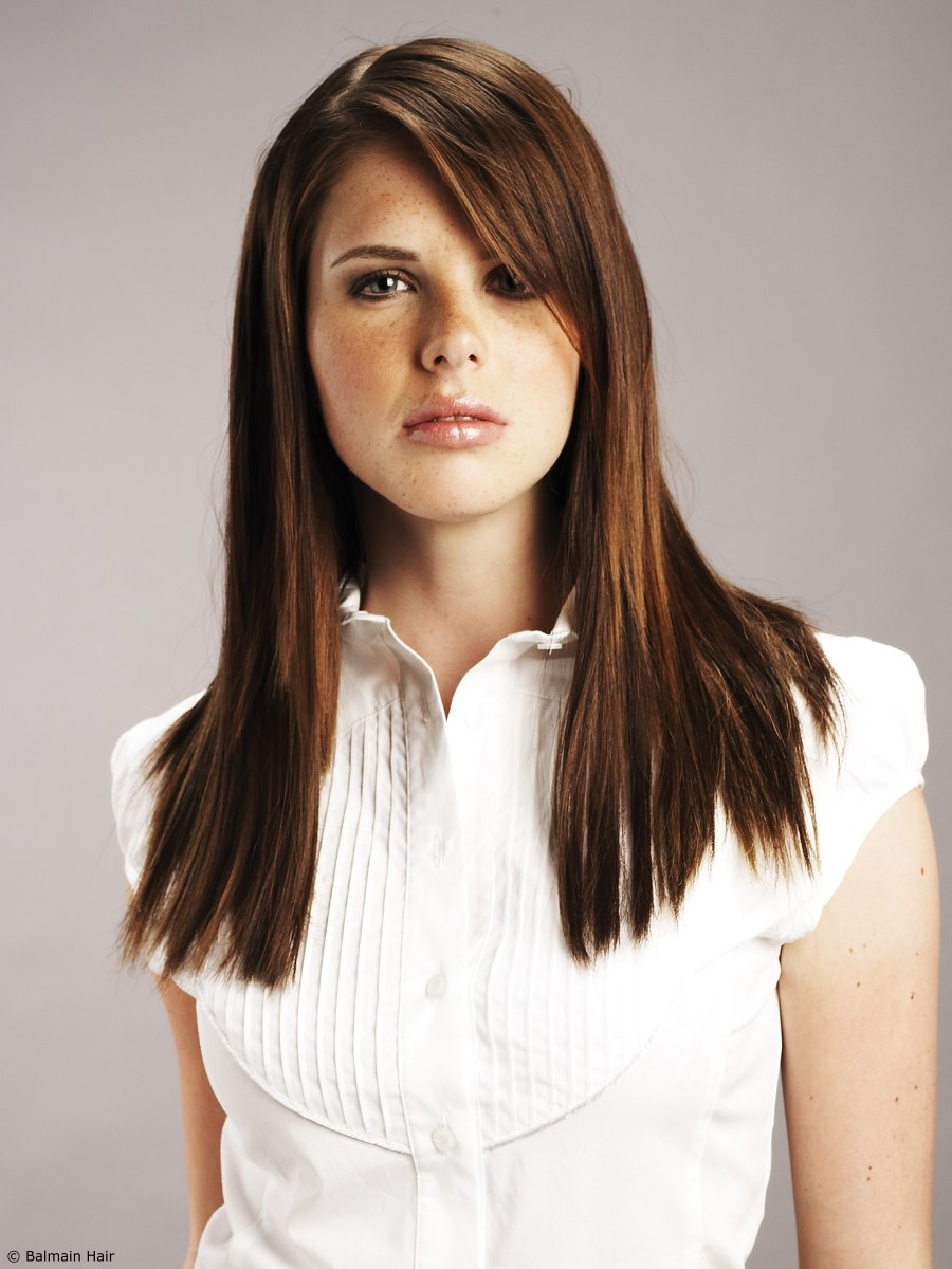Ombre Hair Color Effect Created With Hair Extensions For Color