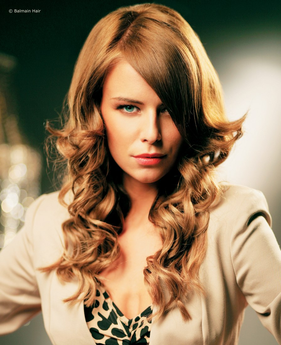 Long Curly Hairstyle Created With Hair Extensions And Hairpieces