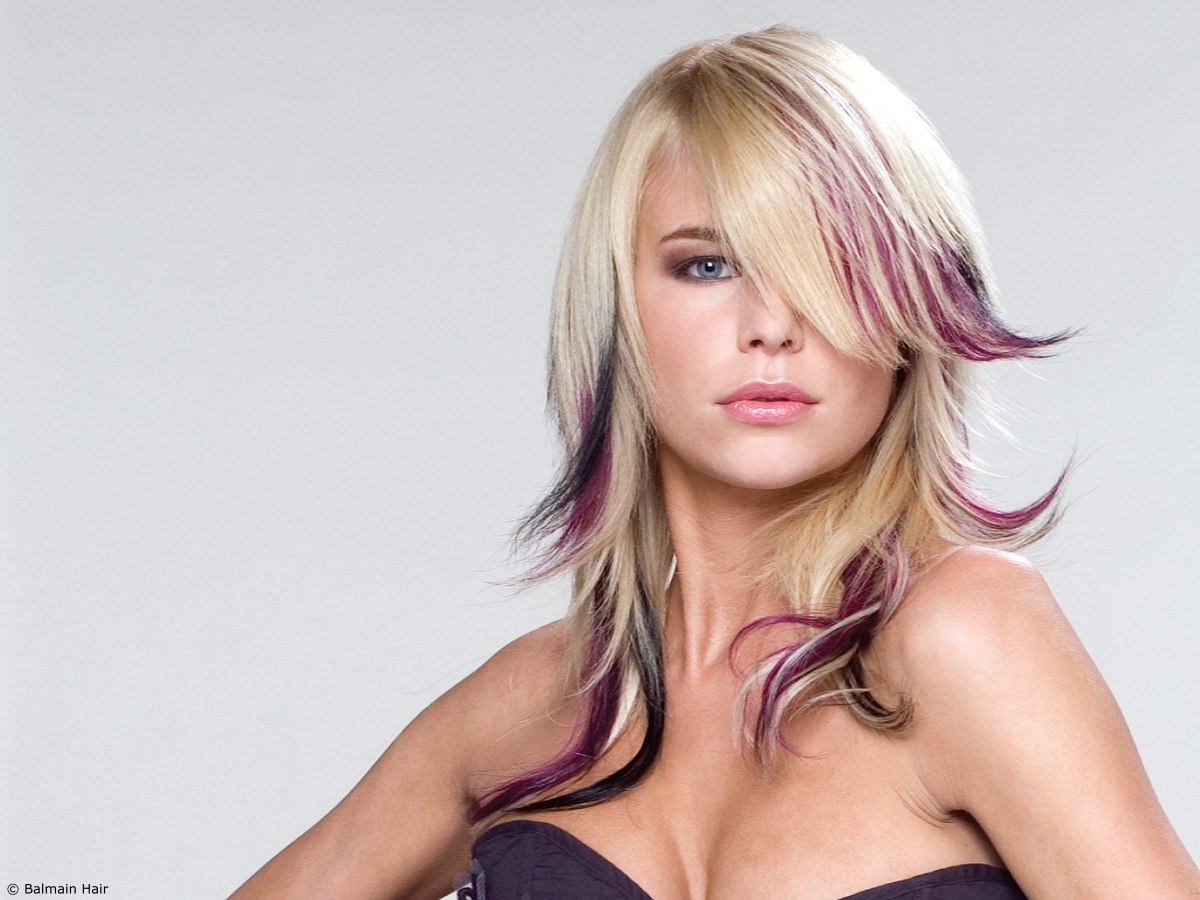 Blonde with Purple Hair Color