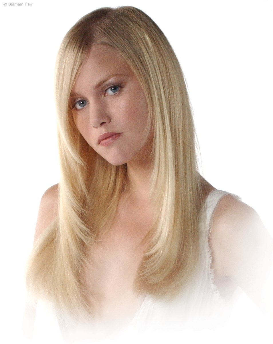 Model With Thin Hair And Extensions Balmain Doublehair Lite