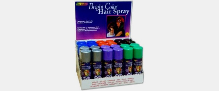 bright color hair spray temporary hair color spray. Black Bedroom Furniture Sets. Home Design Ideas