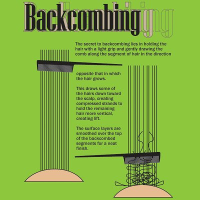 Backcombing hair