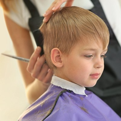 Child at the hairdresser