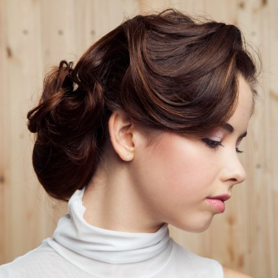 French braid with a chignon