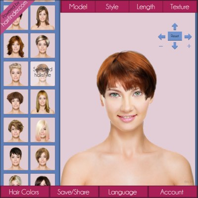 Hair makeover simulation