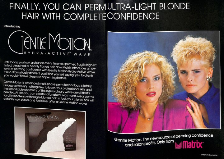 Matrix Gentle Motion For Perming 1980s Vintage Hair Ad